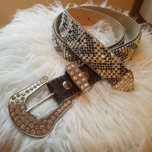 Rhinestone bling country belt